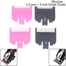 2pcs Professional Cutting Guide Comb Hairdressing Tool 1.5mm 3mm Set Colorful Limit Comb Set for Electric Hair Trimmer Shaver