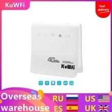 Enrutador Wifi desbloqueado de 300Mbps, Router inalámbrico móvil 4G LTE CPE con puerto LAN, Tarjeta SIM Solt