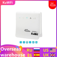 Unlocked 300Mbps Wifi Router 4G LTE CPEไร้สายRouter LANพอร์ตซิมการ์ดSolt