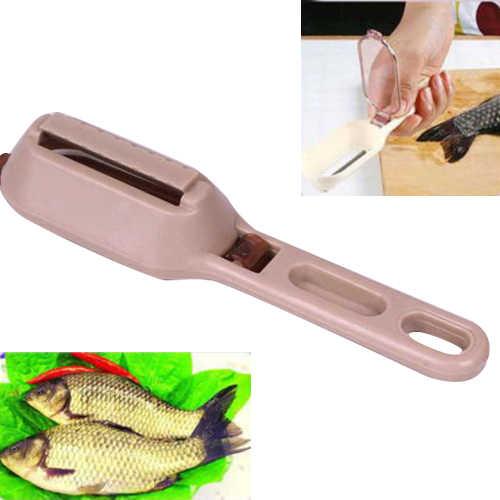 Pelle di pesce Spazzola Raschiando Pesca Bilancia Brush Graters Veloce Rimuovere coltello da Pesce di Pulizia Pelapatate Bilancia r Raschietto mutfak malzemeleri
