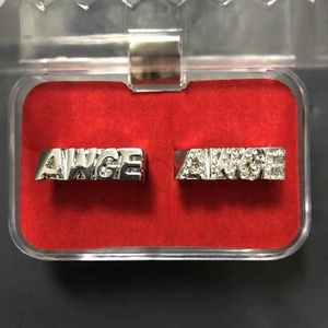 Image 3 - Moveon 힙합 AWGE 링 편지 라이트 부드러운 트렌드 남자 라운드 링 파티 선물을위한 록키 쥬얼리 Statement Simple Bijoux