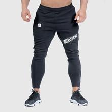 רצים מכנסי טרנינג Mens Slim מכנסי קזואל מוצק צבע חדרי כושר אימון כותנה ספורט סתיו זכר כושר קרוספיט מסלול מכנסיים