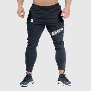 Image 1 - רצים מכנסי טרנינג Mens Slim מכנסי קזואל מוצק צבע חדרי כושר אימון כותנה ספורט סתיו זכר כושר קרוספיט מסלול מכנסיים