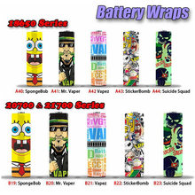 5-30PCS Colorful 18650/20700 Battery Wrapper PVC Heat Shrink Tube Battery Skin Sticker 30mm wide Anime Skin Sticker(China)