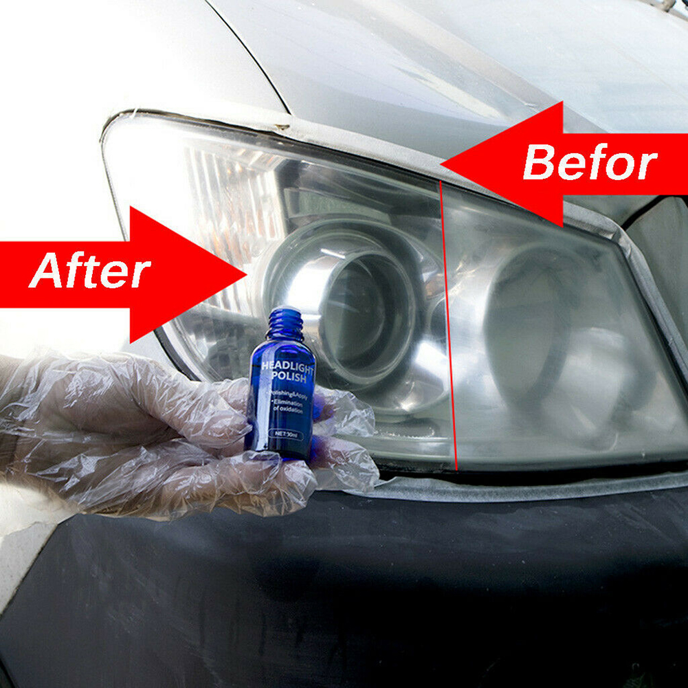 9H Car Hardness Headlight Lens Restorer Repair Liquid Polish Auto Cleaner Set Safe And Environmentally New High Quality