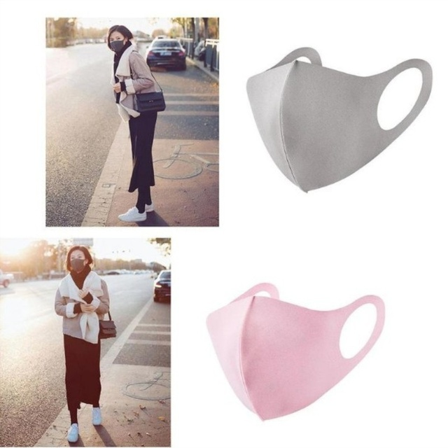 Washable  Adult Kids Mouth Mask Protective Outdoor Face Mask  Anti-flu Respirator Anti-PM 2.5 Mask 5