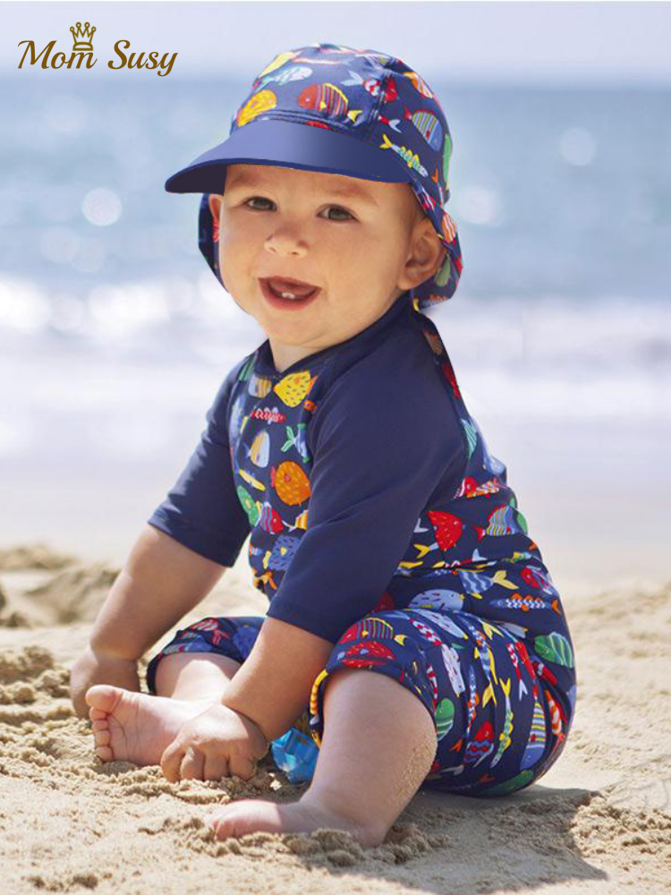 Swim-Suit Swimming-Clothes Child Swimwear One-Piece Toddler Infant Baby-Boys Summer Cartoon