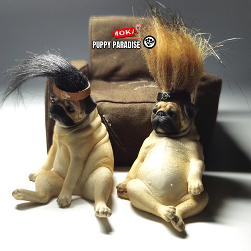 В наличии JXK студия Милая декадентная собака мопс фигурка животного, модель игрушечная Статуэтка W/диван в подарок|Игровые фигурки и трансформеры|   | АлиЭкспресс