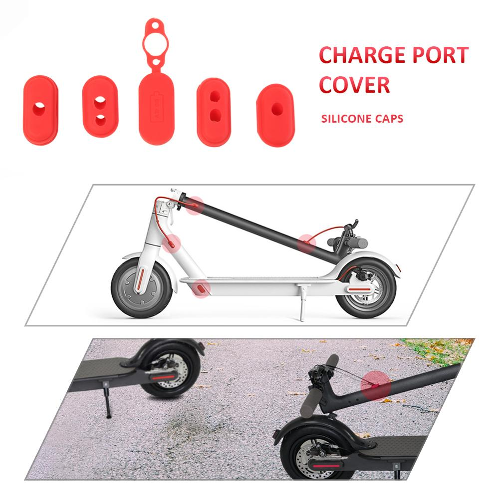 Dust Plug Case Charge Port Cover Electric Scooter Parts For XIAOMI M365