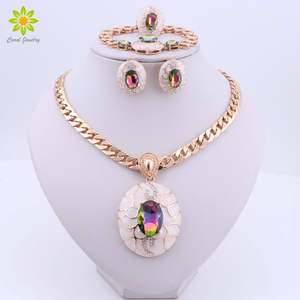 Costume Jewelry-Sets Dubai Nigerian Gold-Color African Women Fashion Brand Wedding