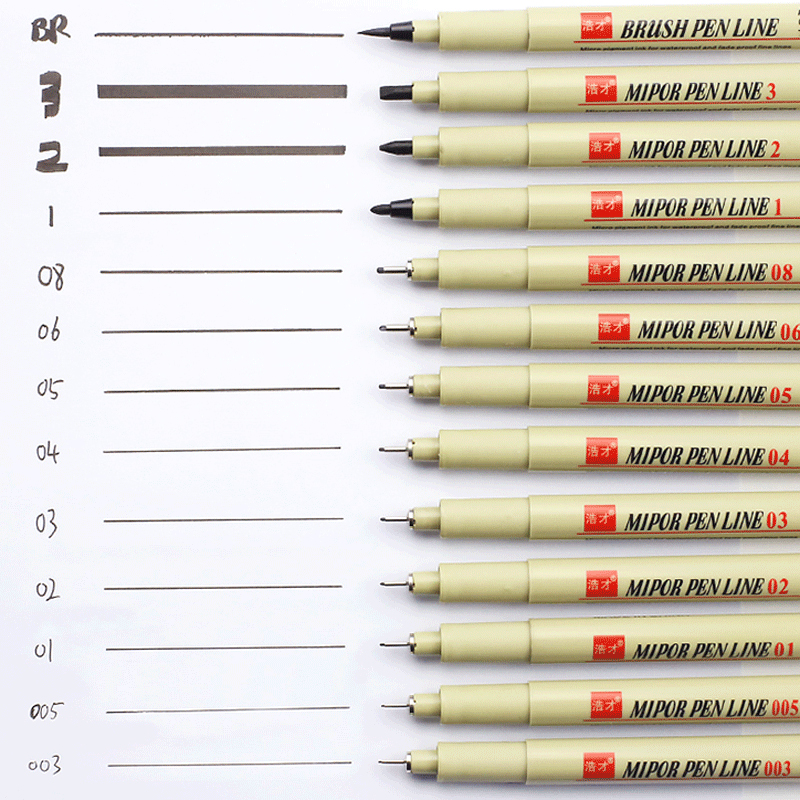 Pigma Micron Pen Set 003 005 01 02 03 04 05 08 1.0 2 3 BR for Manga Soft Brush Fineliner Art Markers Drawing Pen