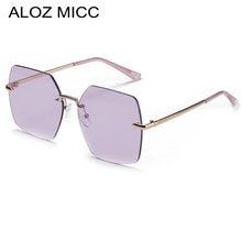 Большие Квадратные Солнцезащитные очки без оправы женские новые