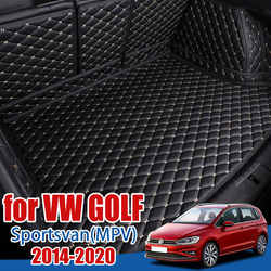 Багажнике лоток протектор для пола для Volkswagen VW Golf Sportsvan Golf7 плюс Mk7 MPV Субару Outback 2014-2020 Коврики для багажника подкладка для сапог грузовой ков...