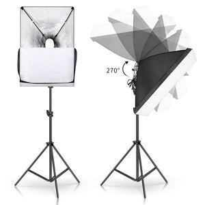 Image 5 - Photography Softbox Lighting Kit 2 PCS E27 LED Photo Studio Camera Light Box Equipment 2 Soft Box & Light Stand with Carry Bag