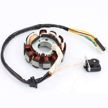 Magneto Ignition Stator Coil 11 Poles For GY6 125cc 150cc Moped Scooter ATV Quad Go Kart Motorcycle 152QMI 157QMJ Bike goofit cdi ignition coil set for yerf dog gy6 50cc 60cc 80cc 125cc 150cc go kart atv scooter go kart group 81