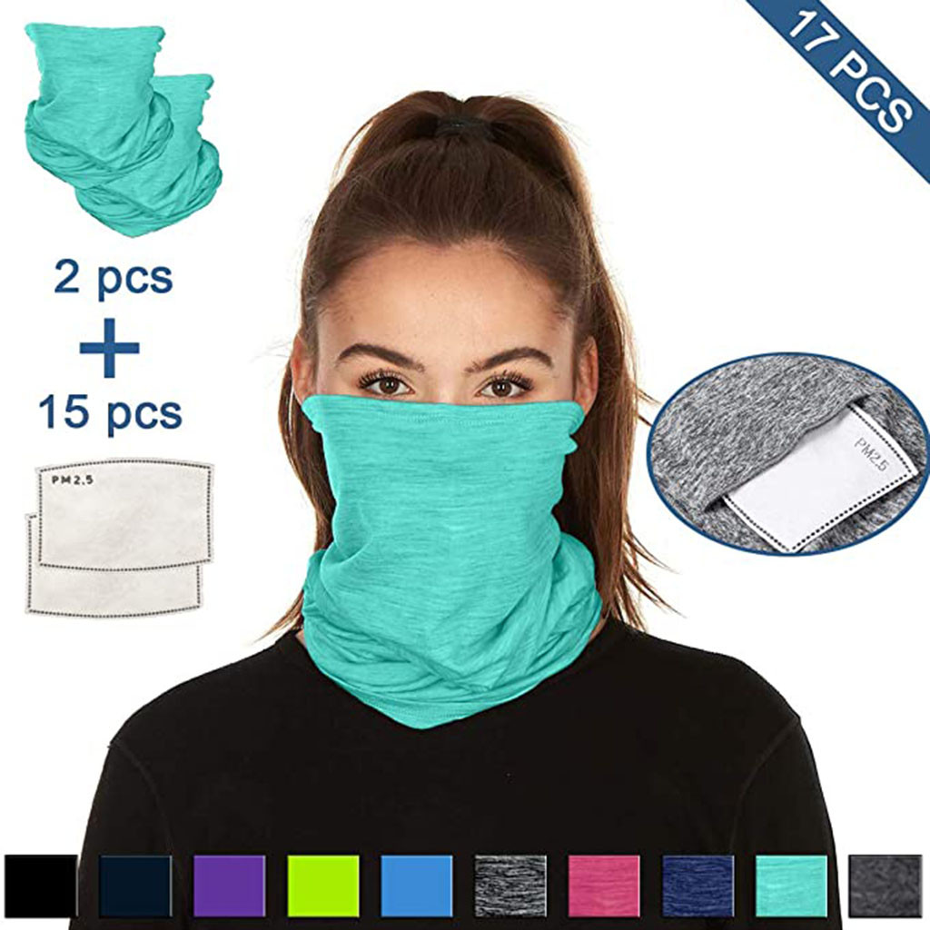 Multifunctional Head Scarf Maske Facemask Face Mouth Neck Cover With Safety Filter Mascarillas Washable Bandanas Reusable