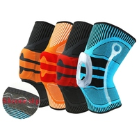 3D Knee Support Patella Knee Protector Brace Silicone Spring Knee Pad Volleyball Basketball Sports Knitted Compression Elastic