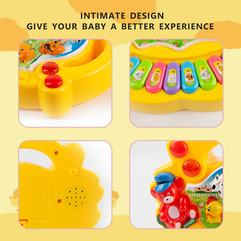 Children's Animal Farm Piano Music Toy eEducational Electronic Organ Baby Playing Instrument Recognition Ability Gifts 3
