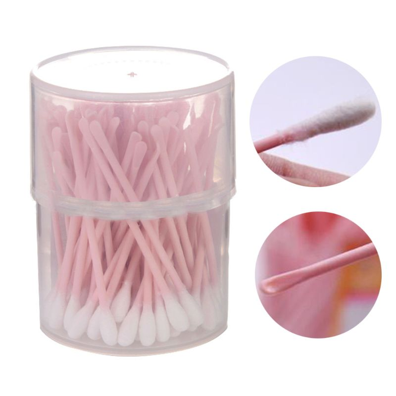 Free Shipping 100 Pcs 2 In 1 Ear Spoon Dual-use Ear Hole Cleaning Creative Home Disposable Cotton Swab