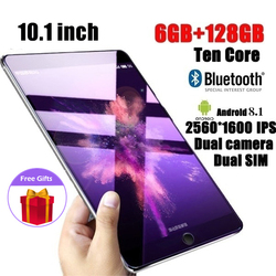 Tabletas Android Wifi de 10,1 pulgadas PC con 6 + 128GB de memoria grande MTK6797 tarjeta SIM Dual 4G llamada Wifi Tablets PC Adroid