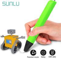 생일 선물 SL-600 3D 프린터 펜 3D 디지털 펜 지원 1.75mm PCL/PLA 필 라 멘 트 어린이 낙서 펜