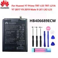 Hua Wei HB406689ECW Original Bateria 4000mAh Para Huawei Desfrutar 7 Plus TRT-L53 TRT-L21A TRT-AL00 TL10A Y7 TRT-LX1 LX2 L23