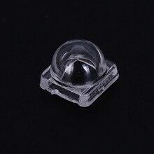 50 шт./компл. высокое качество светодиодный линзы коллиматор отражатель для 5050 SMD 30 60 градусов 10X8 мм очки Оптические convex линзы коллиматор отражатель