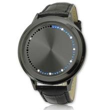 Fashion Men Watches Men Touch Screen Led Watches Creative Dot Matrix Blue Light Led Analog Electronic Watch reloj hombre digital все цены