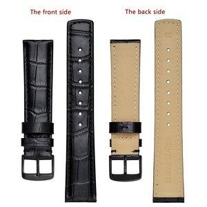 Image 2 - Ремешок кожаный для мужских и женских часов, с тиснением под Аллигатор