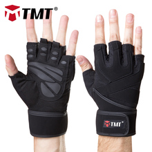 TMT Fitness Gloves Weight Lifting Gloves Men Women Half Finger Protect Wrist Gym Training Fingerless Weightlifting Sport Gloves cheap