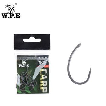 W.P.E Brand Fishing Hook Teflon Coating 30pcs/lot Carp Fishing Hook 2#/4#/6#/8#/ Wide Gape with Micro Barbed Hook Fishing Tackle цена 2017