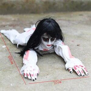 Image 3 - Украшение на Хэллоуин, ползающий призрак, электронная игрушка, реквизит ужаса, женщина, дьявол, домашний клуб, бар, дом с привидениями, вечерние украшения