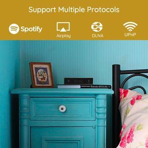 Image 4 - Arylic A30 WiFi et Bluetooth 5.0 Mini amplificateur maison HiFi stéréo classe D multiroom numérique avec Spotify Airplay égaliseur