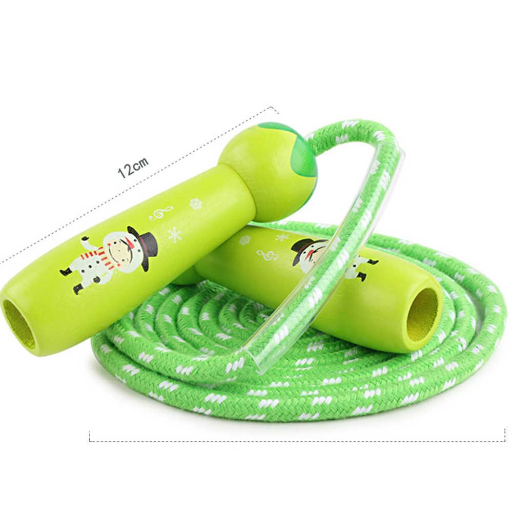 3m الاطفال الكرتون خشبية مقبض حبل قفز ونط في الهواء الطلق الرياضة ممارسة أداة لطيف تخطي حبل الطفر سلك أطفال ألعاب أطفال