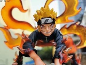 Image 3 - Naruto Shippuden Uzumaki Naruto Kakashi Obito Itachi Kyuubi Kurama Statue Anime PVC Action Figure Collectible Model Toys Doll