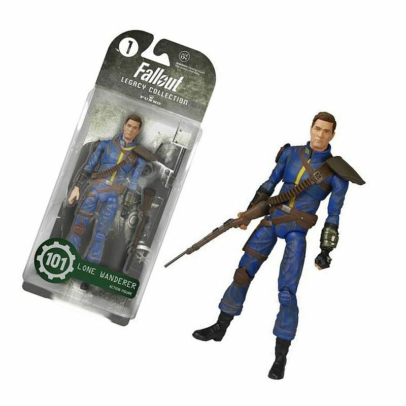 Anime Action figure Fallout 4 Power Armor Wanderer Model 6 inches Movie Doll Toy PVC Hobby Collection Blue Children Gift image