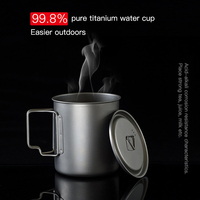 Taza de café duradera para exteriores, taza de café portátil ultraligera de titanio para el hogar, exterior, Camping, Picnic, alta calidad, nueva