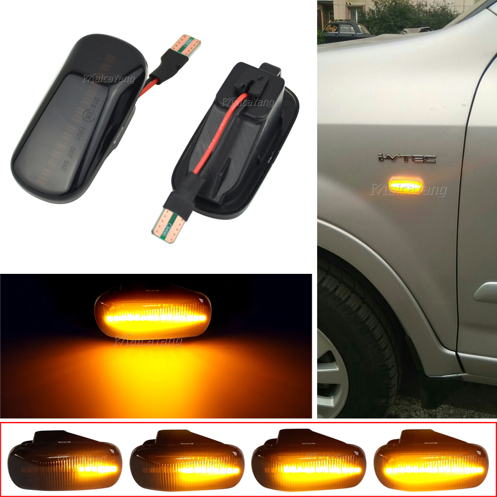Para Honda CRV Acuerdo Cívico de la ciudad de ajuste Jazz corriente HRV S2000 odisea Integra Acura RSX NSX dinámica luces LED de señal de giro