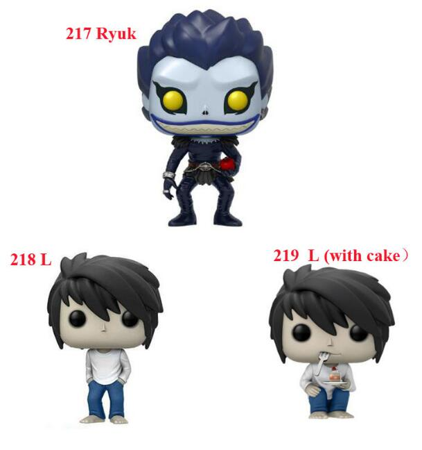 Anime Death Note Ryuk 217 & L 219 Character 10cm Action Figure Toys