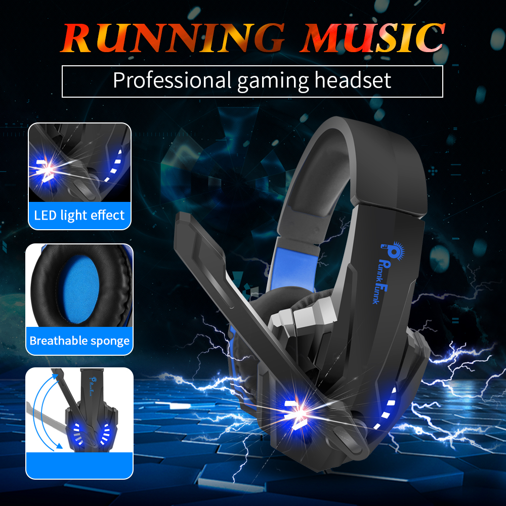 Professionele Gaming Hoofdtelefoon Led Licht Bass Stereo Ruisonderdrukking Microfoon Gamer Headset Voor PS4 PS5 Xbox Laptop Pc Bedrade Headset 2