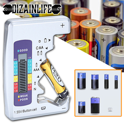 Digital Battery Tester LCD Display C D N AA AAA 9V 1.5V Button Cell Battery Capacity Check Detector Capacitance Diagnostic Tool