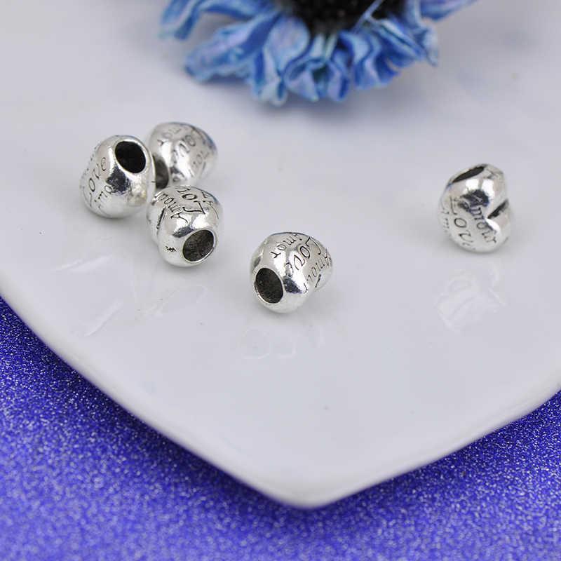 Europäische 1pc liebe mom & dad exquisite hohl perle charms Pandora Charms Armband für frauen männer diy schmuck