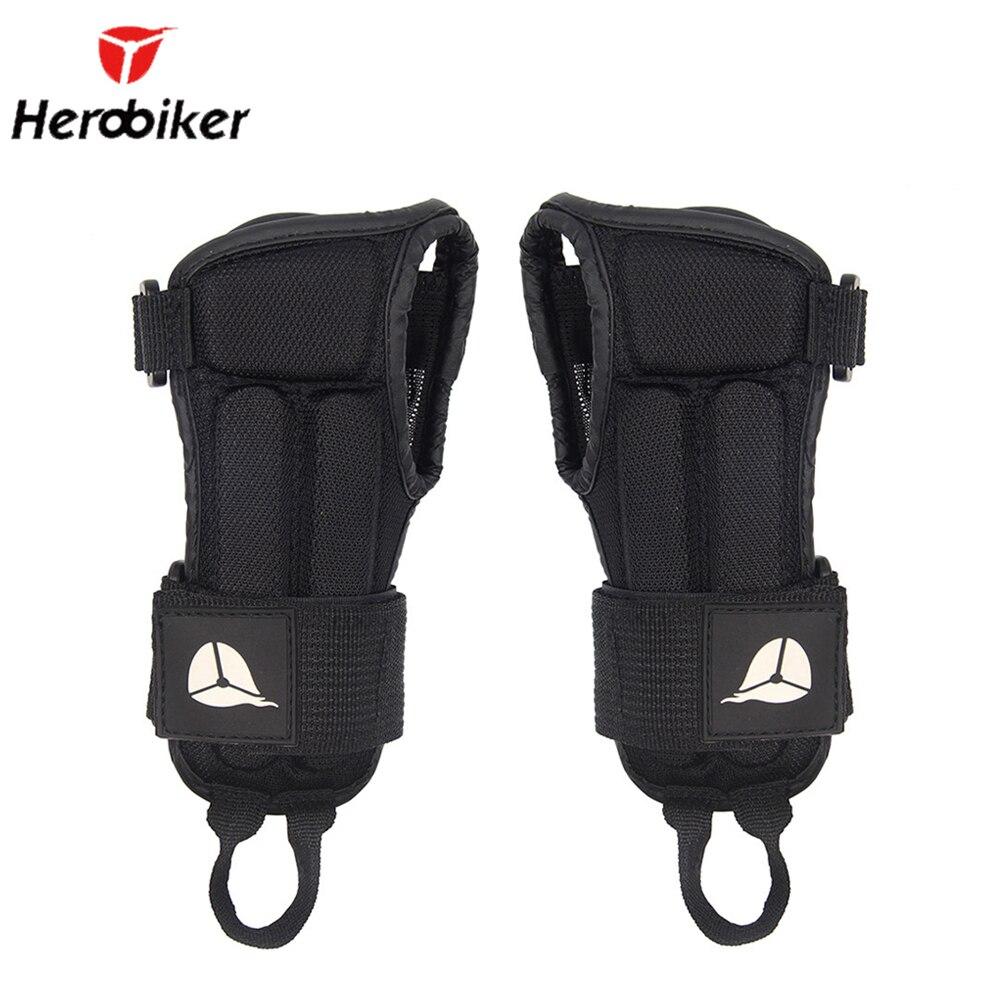 Herobiker luvas de proteção para o pulso da motocicleta motocross esqui armguard apoio de pulso ajustável mão protetor palma acolchoado guardas
