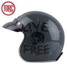 TORC casco capacete винтажные шлемы T57 moto Кафе racer moto rcycle скутер 3/4 ретро открытый шлем M L XL с солнцезащитным козырьком