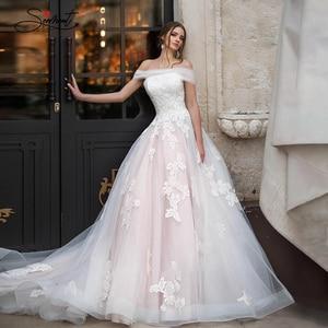 Image 2 - Baziingaaa vestido de boda de lujo, con aplique para hombro, de encaje, Sexy, sin espalda, para novia americana, a medida