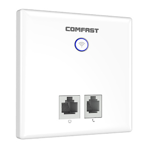 750Mbps Wireless in Wall Access Point Indoor 86 Panel RJ45+RJ11 Port Dual Band WAN LAN WiFi Repeater Router(China)
