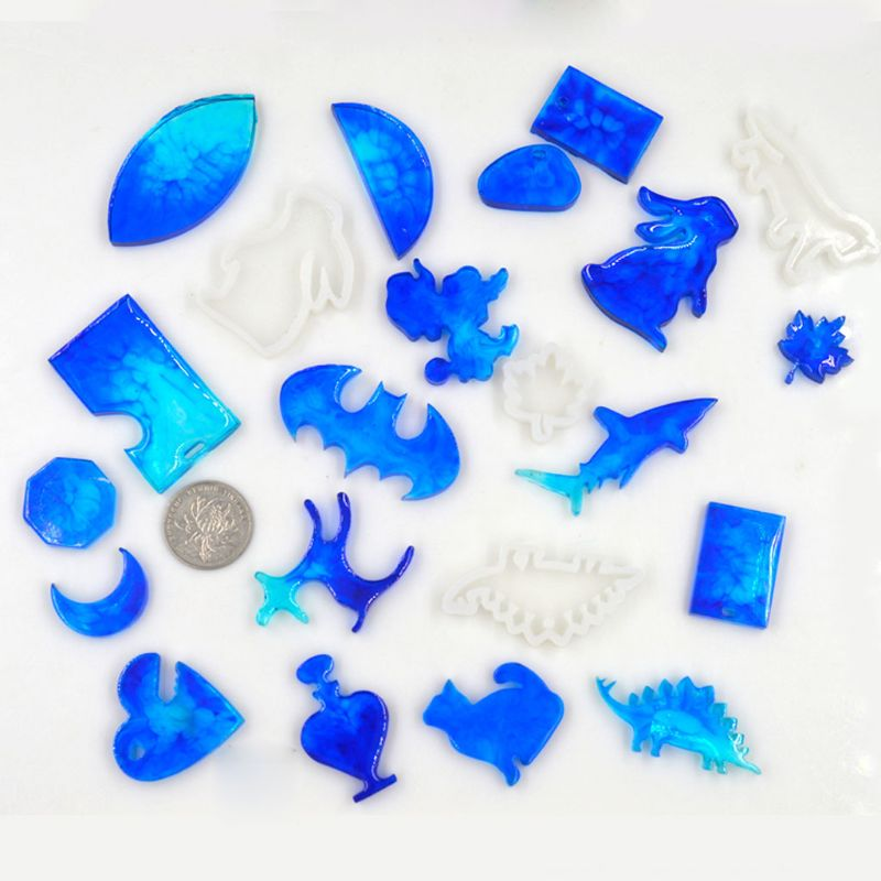 Animals Rabbit Shark Cute Dinosaur Shaped Silicone DIY Hand Made Jewelry Molds UV Resin Epoxy Resin Jewerly Accessories