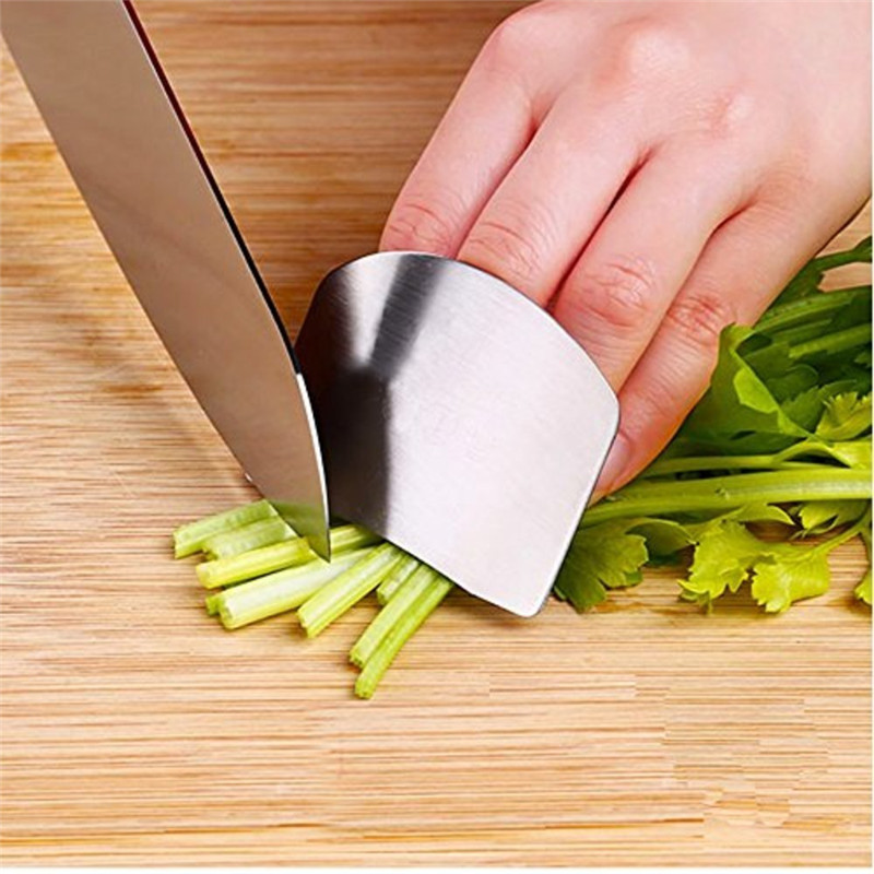 Good quality all stainless steel double finger hand guard kitchen tools  hands