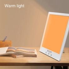 Счастливая лампа для терапии с затемнением, вращающаяся на 360 градусов, USB, перезаряжаемый солнечный свет, моделирование времени, украшение, бесступенчатая, Анти-усталость