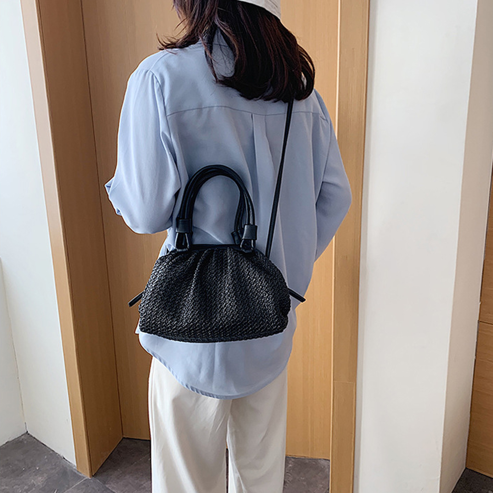 Casual Straw Woven Straw Hand Bag 2021 for Summer